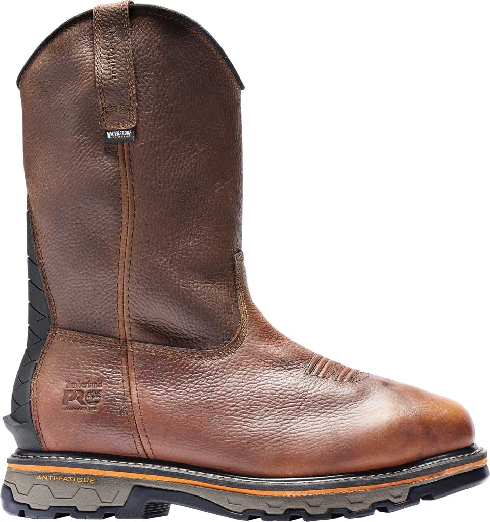 Men's Timberland PRO True Grit Composite Safety Toe Met Guard Boot, Brown Autumn Backtrack Full Grain Leather, large, image 2