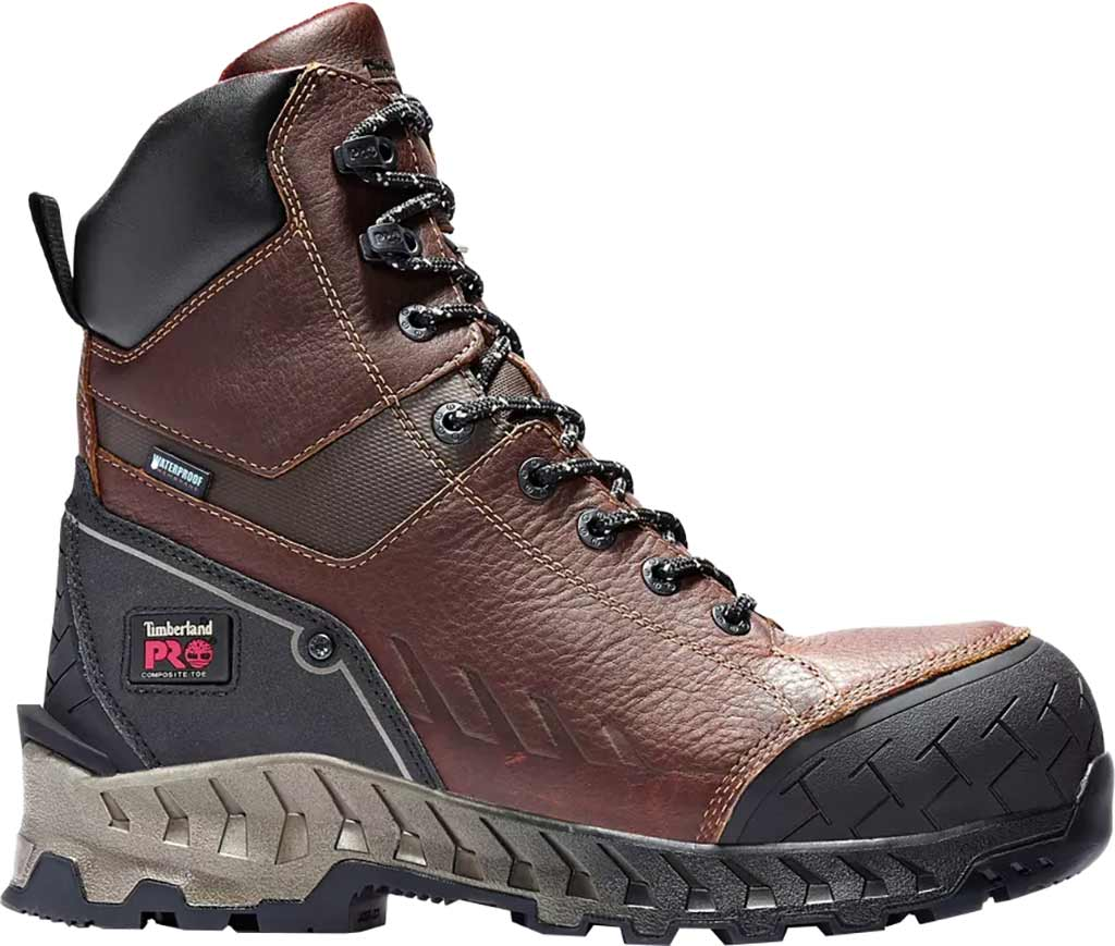 """Men's Timberland PRO Work Summit 8"""" Composite Safety Toe Insulated Boot, Brown Full Grain Leather, large, image 1"""