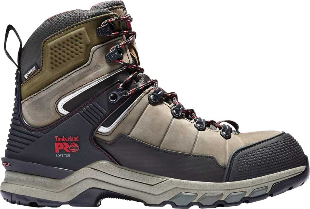 Men's Timberland PRO Hypercharge TRD Soft Toe Waterproof Boot, Brown Canteen Nubuck Leather, large, image 2