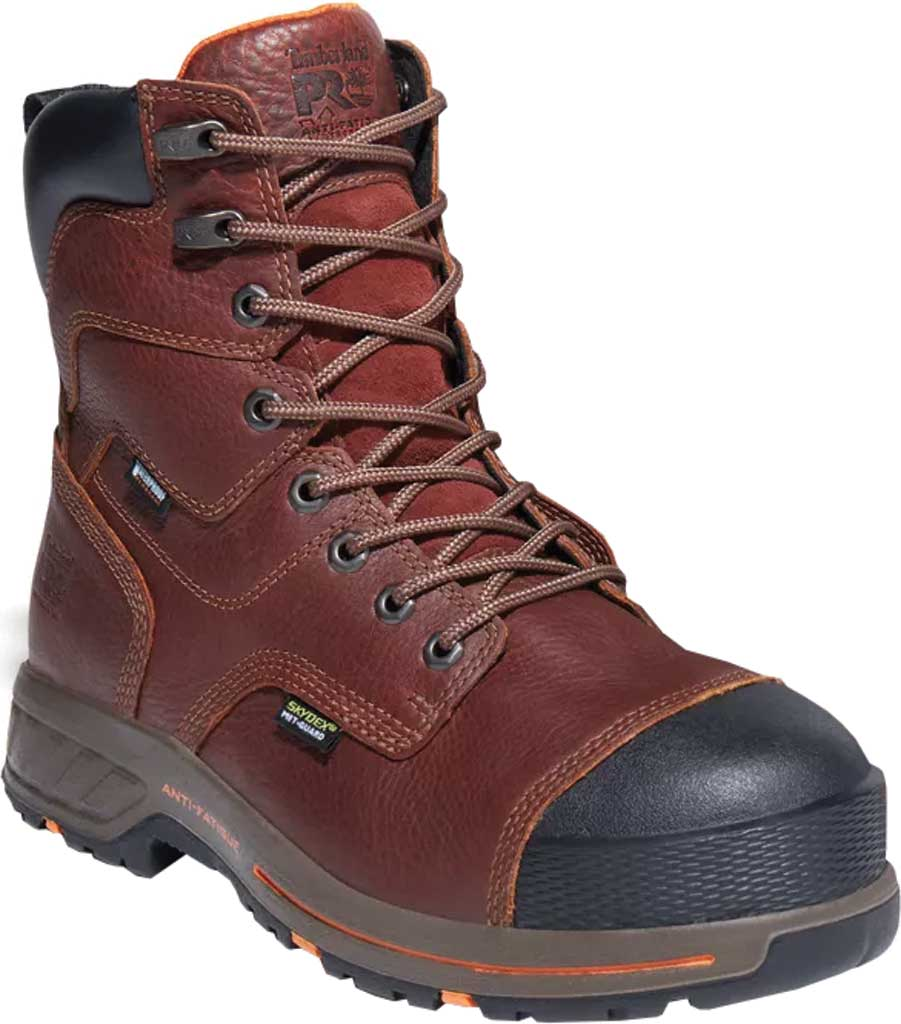 """Men's Timberland PRO Helix HD 8"""" Composite Safety Toe Waterproof Boot, Tempest Rancher Brown Full Grain Leather, large, image 1"""