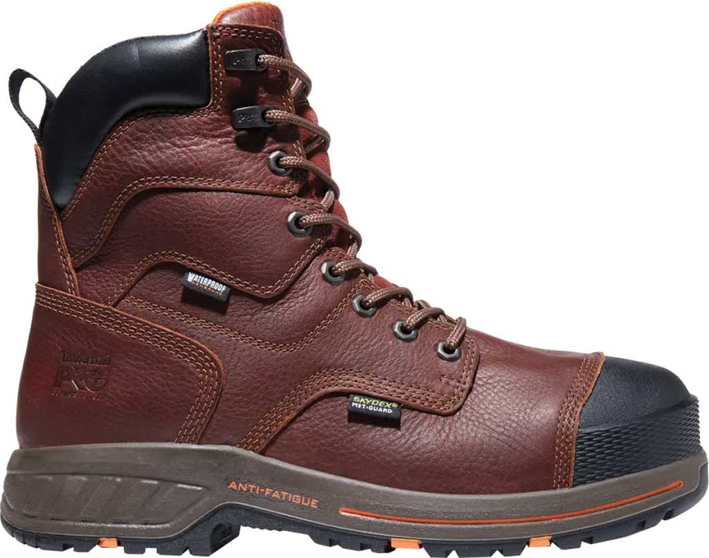 """Men's Timberland PRO Helix HD 8"""" Composite Safety Toe Waterproof Boot, Tempest Rancher Brown Full Grain Leather, large, image 2"""