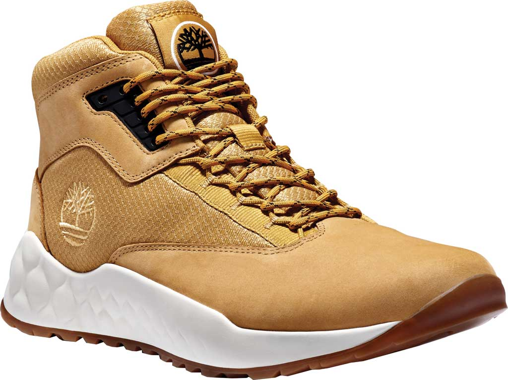 Men's Timberland Solar Wave Mid Hiking Boot, Wheat Leather, large, image 1