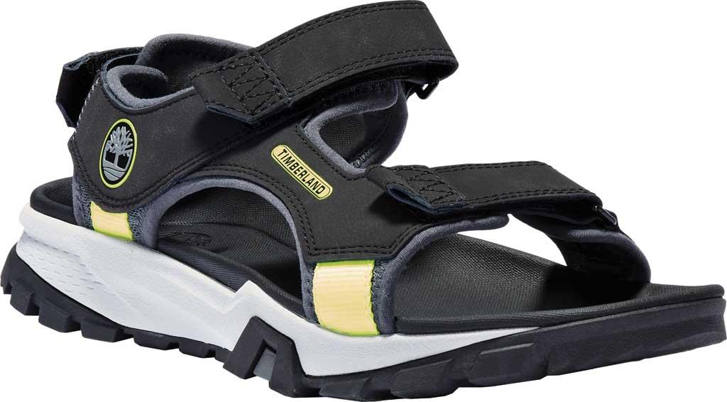 Men's Timberland Garrison Trail Double-Strap Active Sandal, Black Leather, large, image 1