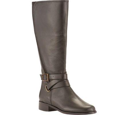 Women's Rose Petals by Walking Cradles Tristan Tall Extra Wide Calf Boot, Black Nappa, large, image 1