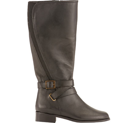 Women's Rose Petals by Walking Cradles Tristan Tall Extra Wide Calf Boot, Black Nappa, large, image 2