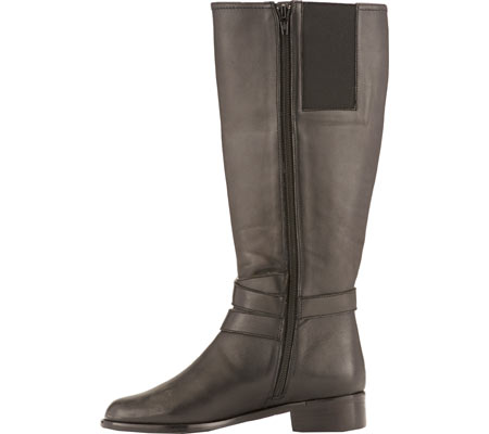 Women's Rose Petals by Walking Cradles Tristan Tall Extra Wide Calf Boot, Black Nappa, large, image 3