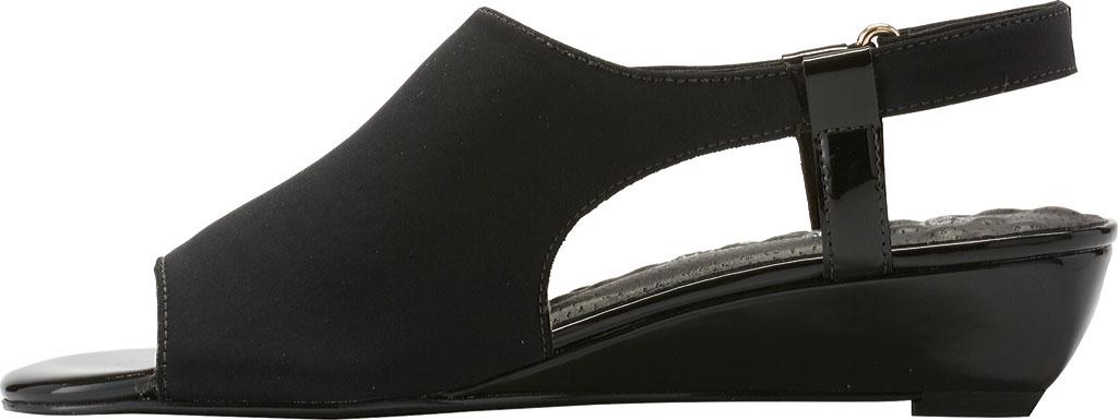 Women's Walking Cradles Daphne Demi Wedge Slingback, Black Micro/Patent, large, image 3