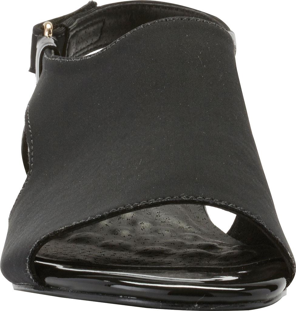 Women's Walking Cradles Daphne Demi Wedge Slingback, Black Micro/Patent, large, image 4