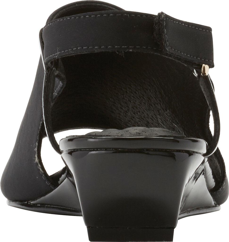 Women's Walking Cradles Daphne Demi Wedge Slingback, Black Micro/Patent, large, image 5