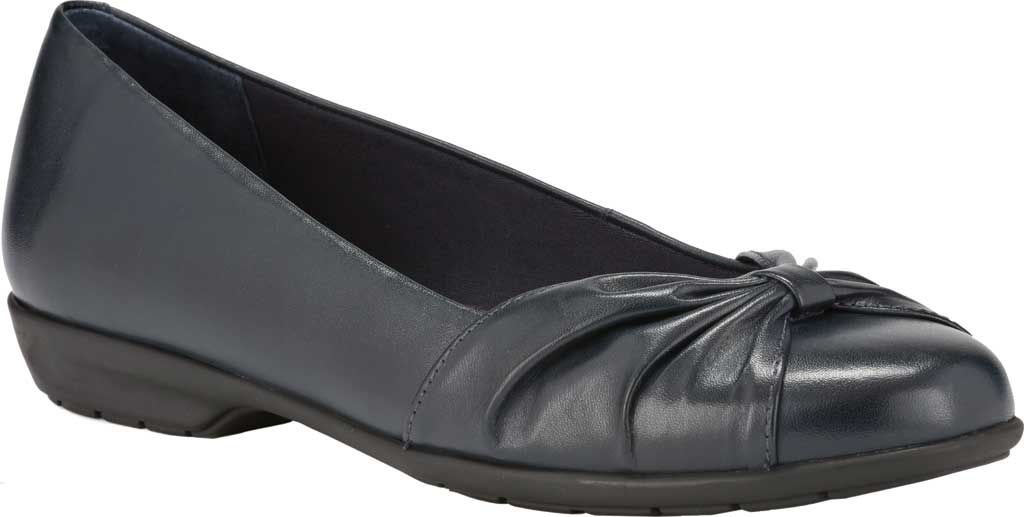 Women's Walking Cradles Fall Ballet Flat, Navy Leather, large, image 1
