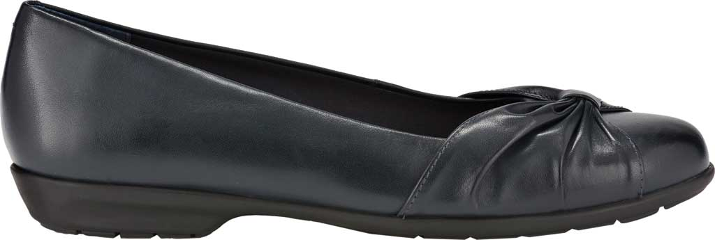 Women's Walking Cradles Fall Ballet Flat, Navy Leather, large, image 2