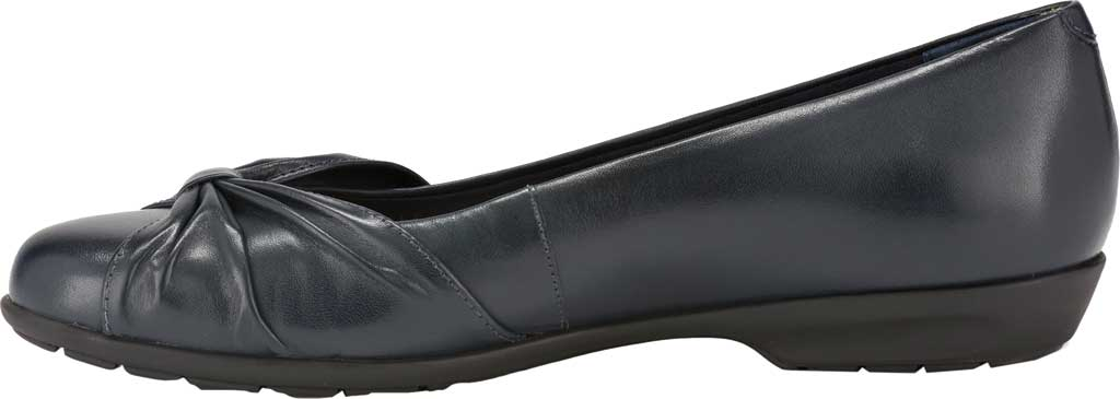 Women's Walking Cradles Fall Ballet Flat, Navy Leather, large, image 3
