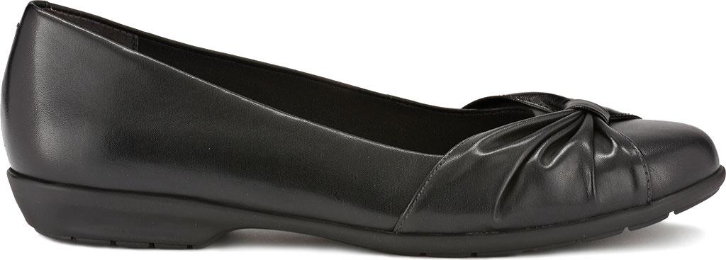 Women's Walking Cradles Fall Ballet Flat, Black Leather, large, image 2