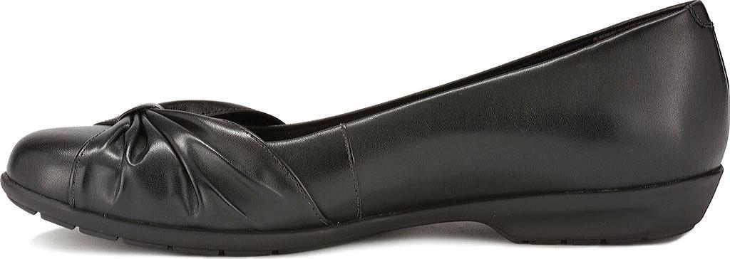 Women's Walking Cradles Fall Ballet Flat, Black Leather, large, image 3