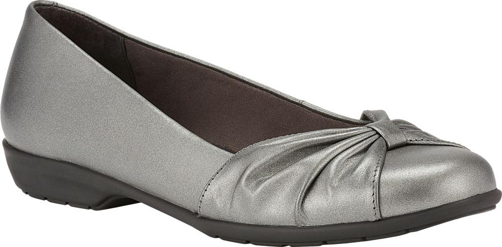 Women's Walking Cradles Fall Ballet Flat, Pewter Leather, large, image 1