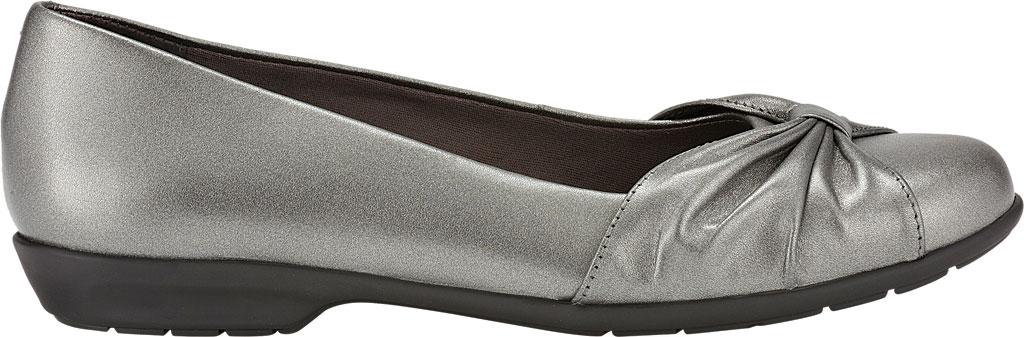 Women's Walking Cradles Fall Ballet Flat, Pewter Leather, large, image 2