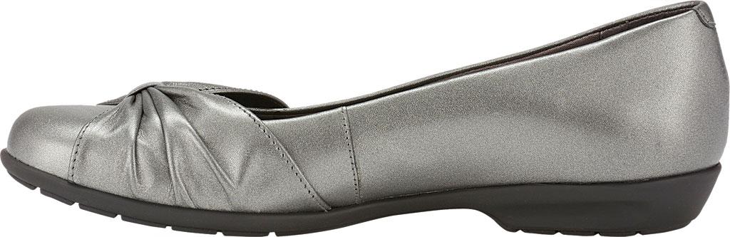Women's Walking Cradles Fall Ballet Flat, Pewter Leather, large, image 3