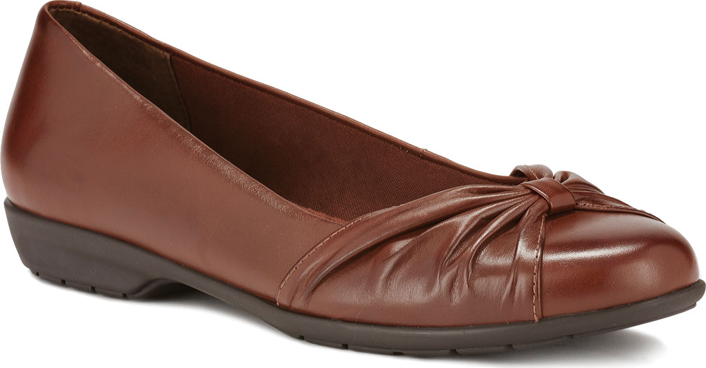 Women's Walking Cradles Fall Ballet Flat, Tobacco Leather, large, image 1