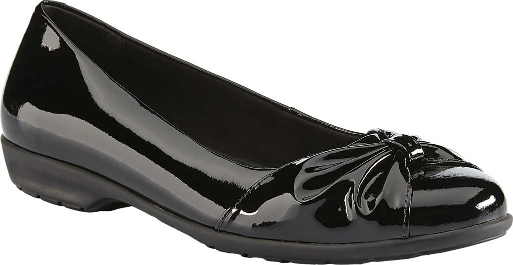 Women's Walking Cradles Fall Ballet Flat, Black Patent Leather, large, image 1