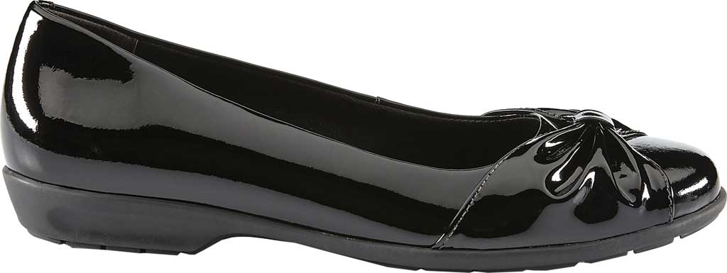 Women's Walking Cradles Fall Ballet Flat, Black Patent Leather, large, image 2