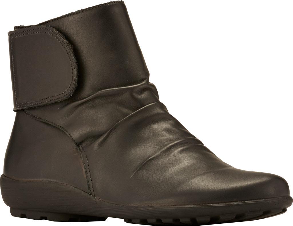 Women's Walking Cradles Harlow Bootie, Black Leather, large, image 1