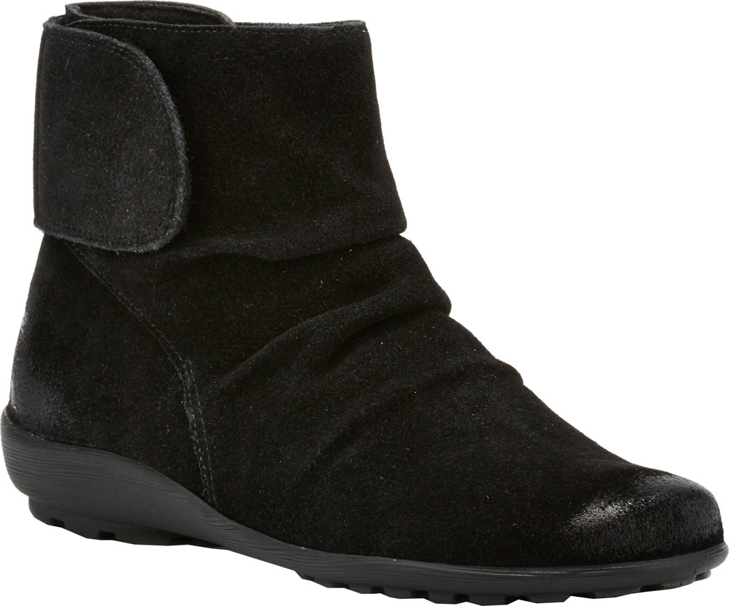 Women's Walking Cradles Harlow Bootie, Black Suede Leather, large, image 1