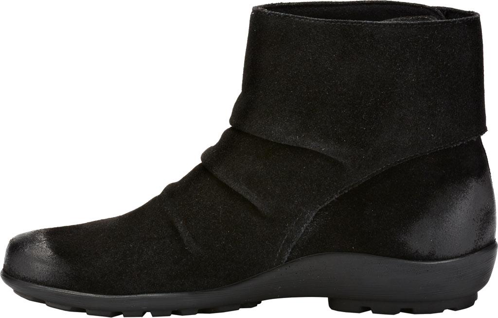 Women's Walking Cradles Harlow Bootie, Black Suede Leather, large, image 3