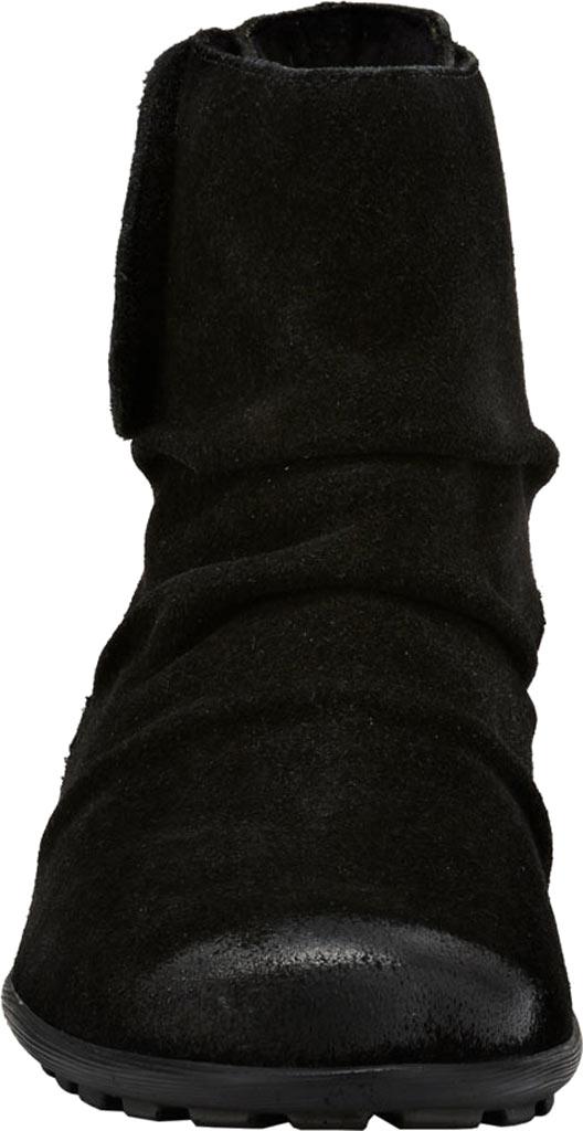 Women's Walking Cradles Harlow Bootie, Black Suede Leather, large, image 4