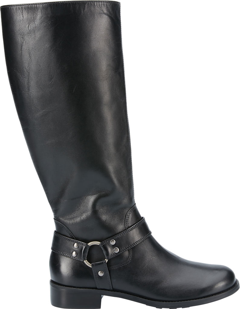 Women's Walking Cradles Kristen Extra Wide Shaft Harness Boot, Black Leather, large, image 2