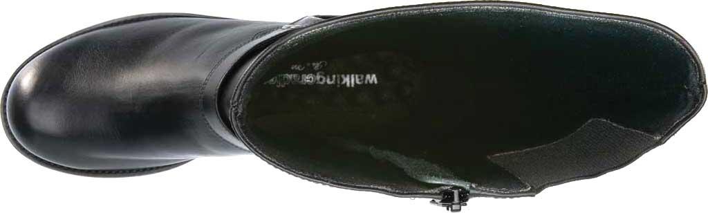Women's Walking Cradles Kristen Extra Wide Shaft Harness Boot, Black Leather, large, image 5