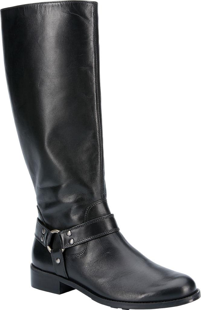 Women's Walking Cradles Kristen Wide Shaft Harness Boot, Black Leather, large, image 1