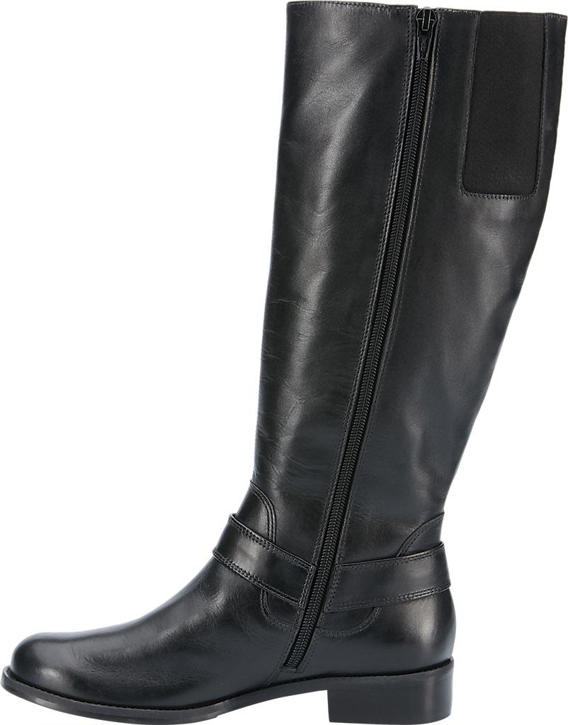 Women's Walking Cradles Kristen Wide Shaft Harness Boot, Black Leather, large, image 3