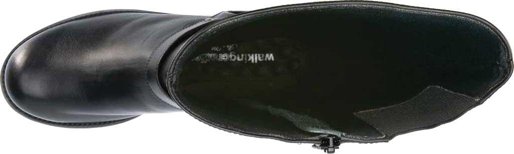 Women's Walking Cradles Kristen Wide Shaft Harness Boot, Black Leather, large, image 6