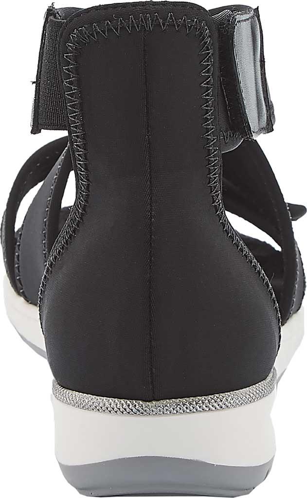 Women's Walking Cradles Stardust Cross Strap Sandal, Black Lycra, large, image 4