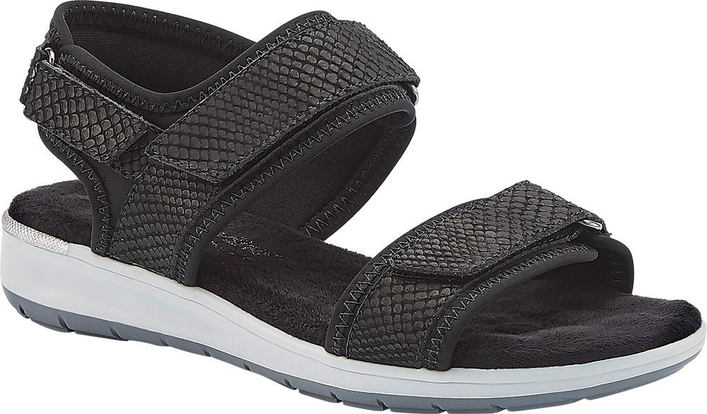 Women's Walking Cradles Shea Walking Sandal, Black Snake Print Lycra/Leather, large, image 1
