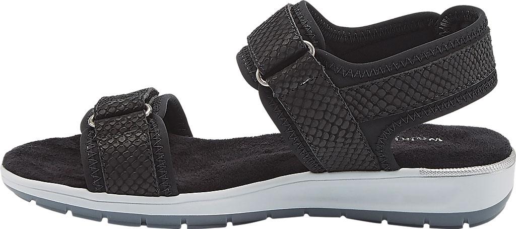 Women's Walking Cradles Shea Walking Sandal, Black Snake Print Lycra/Leather, large, image 3