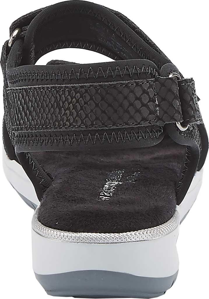 Women's Walking Cradles Shea Walking Sandal, Black Snake Print Lycra/Leather, large, image 4
