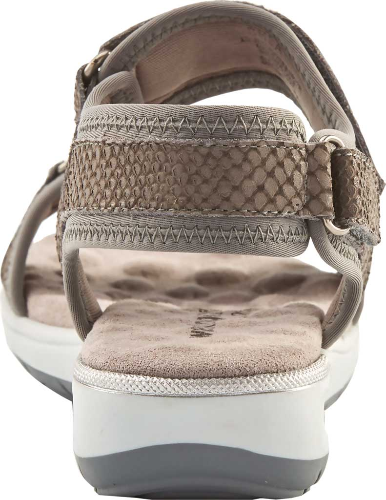 Women's Walking Cradles Shea Walking Sandal, Gray Snake Print Lycra/Leather, large, image 4
