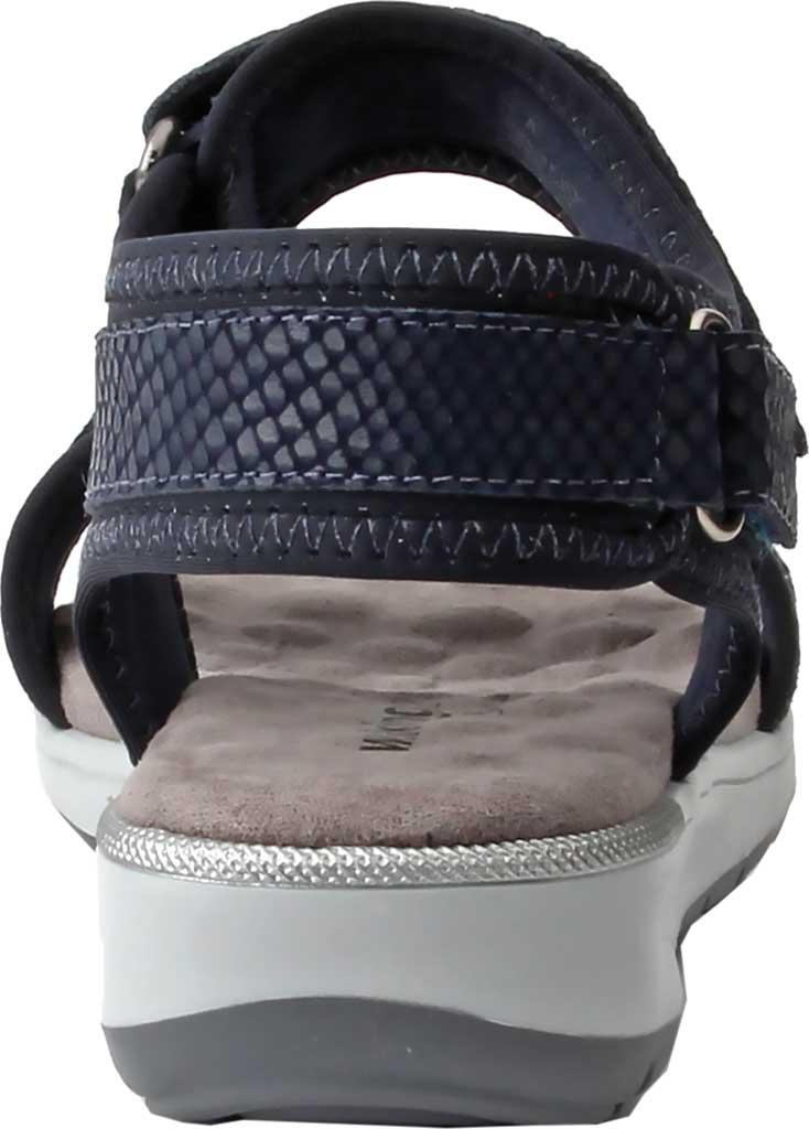 Women's Walking Cradles Shea Walking Sandal, Navy Snake Print Lycra/Leather, large, image 4