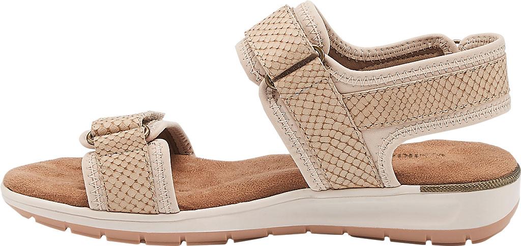 Women's Walking Cradles Shea Walking Sandal, Taupe Snake Print Lycra/Leather, large, image 3