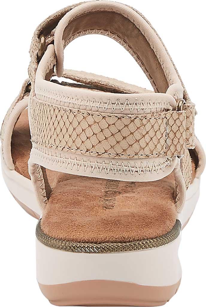 Women's Walking Cradles Shea Walking Sandal, Taupe Snake Print Lycra/Leather, large, image 4