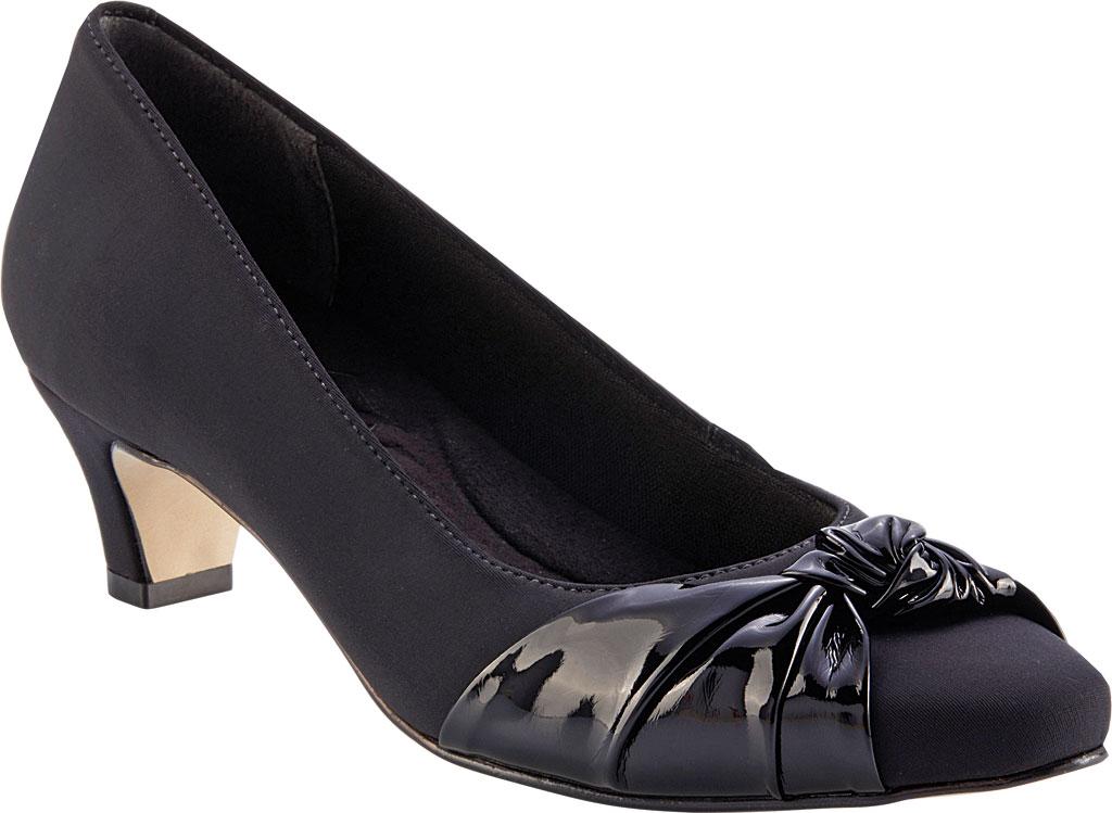 Women's Walking Cradles Isla Pump, Black Microsuede, large, image 1