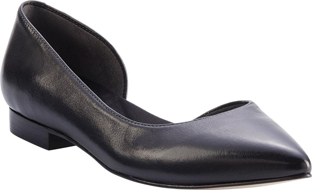 Women's Walking Cradles Raya Pointed Toe Flat, Black Leather, large, image 1