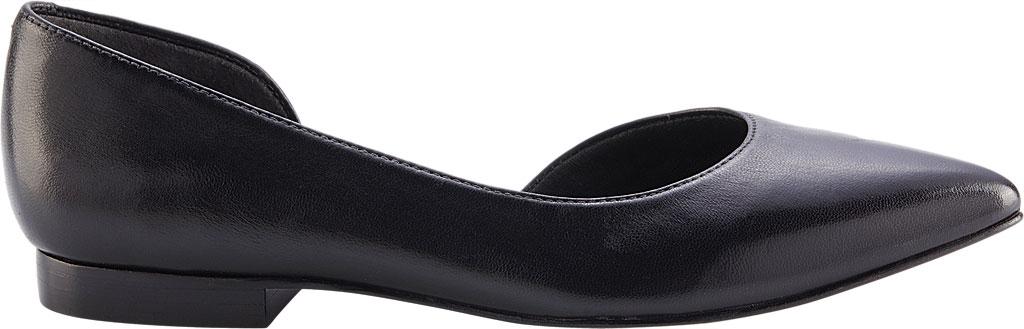 Women's Walking Cradles Raya Pointed Toe Flat, Black Leather, large, image 2