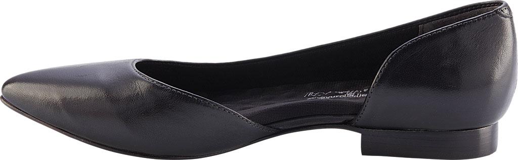 Women's Walking Cradles Raya Pointed Toe Flat, Black Leather, large, image 3