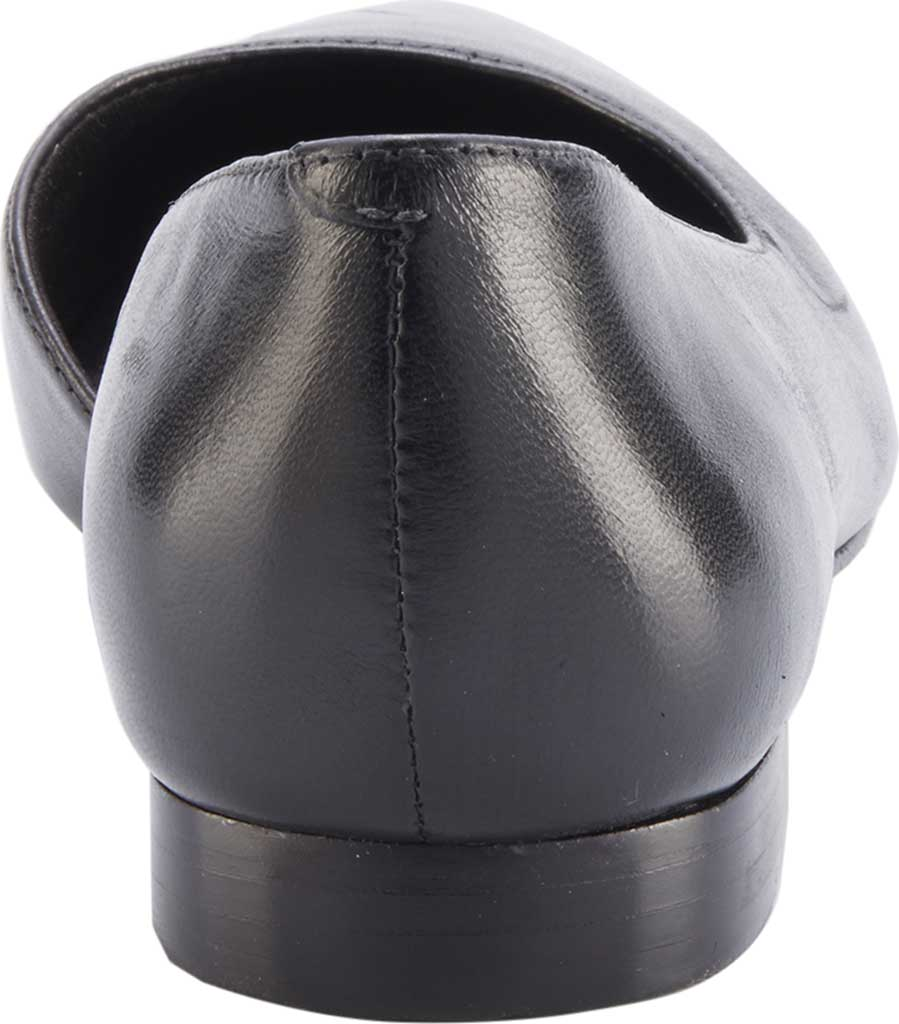 Women's Walking Cradles Raya Pointed Toe Flat, Black Leather, large, image 4