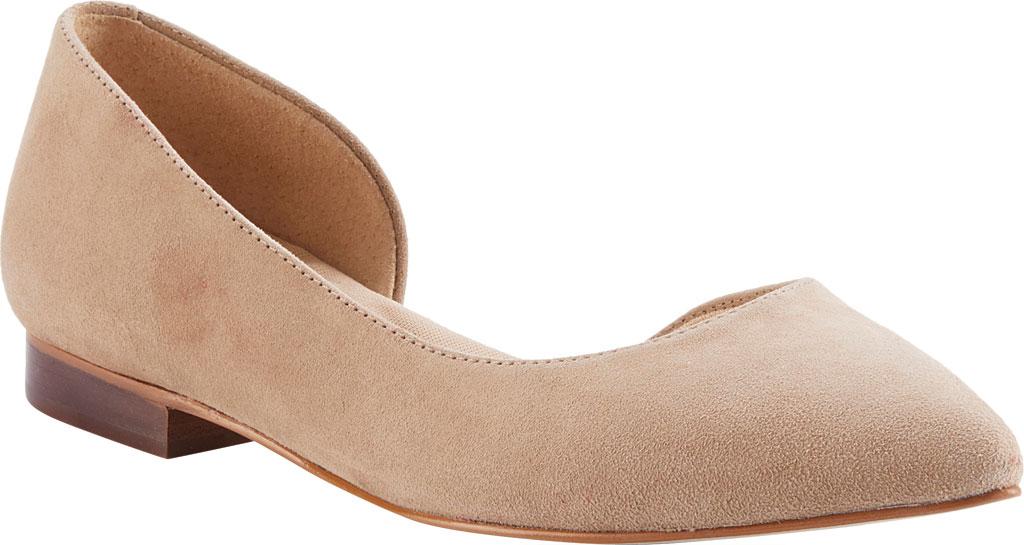 Women's Walking Cradles Raya Pointed Toe Flat, Taupe Suede, large, image 1