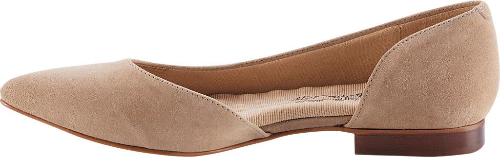 Women's Walking Cradles Raya Pointed Toe Flat, Taupe Suede, large, image 3