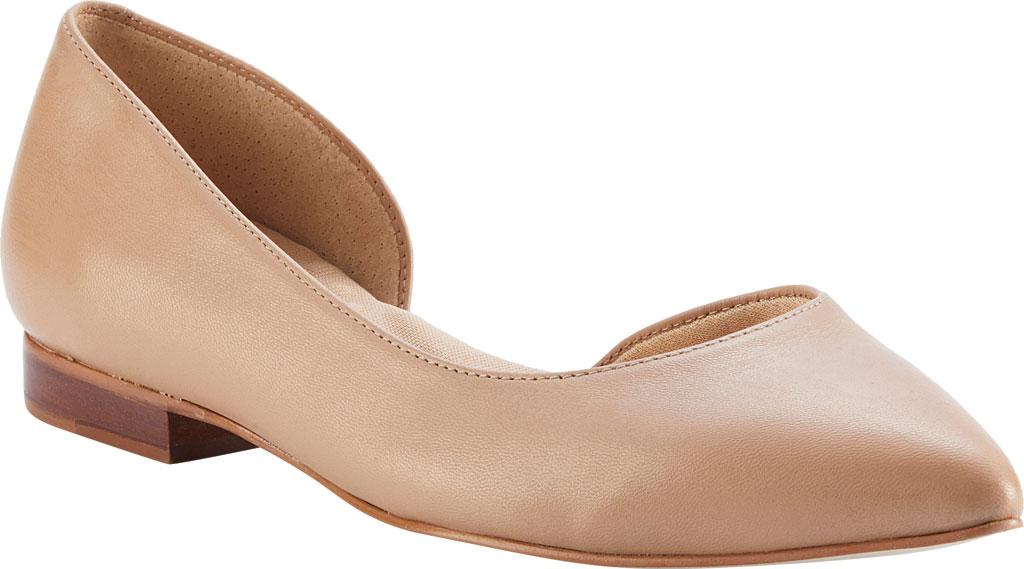 Women's Walking Cradles Raya Pointed Toe Flat, Nude Leather, large, image 1