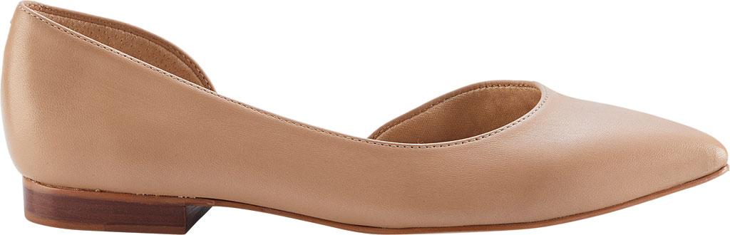 Women's Walking Cradles Raya Pointed Toe Flat, Nude Leather, large, image 2